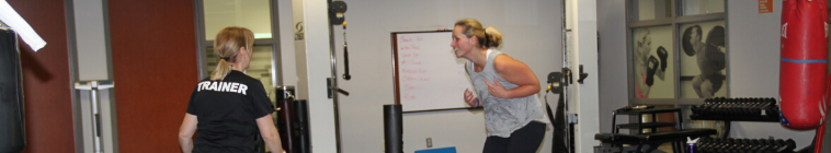 person exercising with a personal trainer
