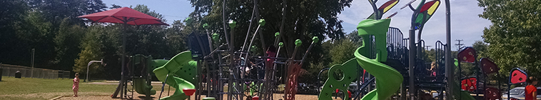 playground equipment at haley smith park
