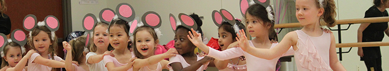 Ballerinas with mouse ears